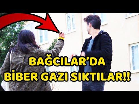 BAĞCILAR'DA KIZ TAVLAMAYA ÇALIŞMAK - BİBER GAZI SIKTILAR!!