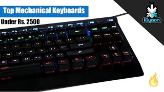 Top Budget Mechanical Keyboards Under Rs. 2500 - iGyaan Top Tech