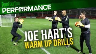 Joe Hart's warm up drills | Pro level goalkeeper training drill