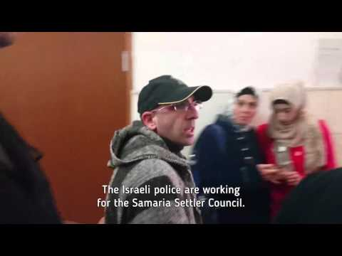 Human rights activist in the court house: Israeli police is working for the settlers