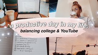 a PRODUCTIVE day in my life (college vlog)