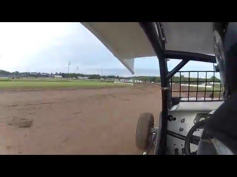 Canandaigua 305 Sprint Car Practice 6/9/12 Jake Muench (HD)