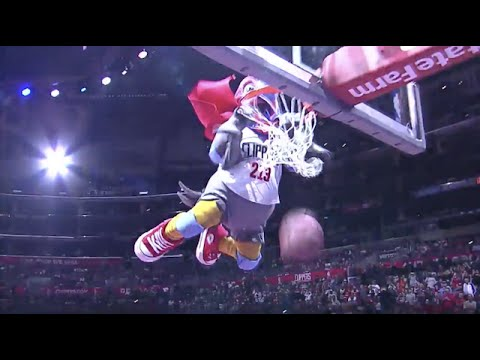 Clippers New Mascot and Steve Ballmer's Dunk Go Viral