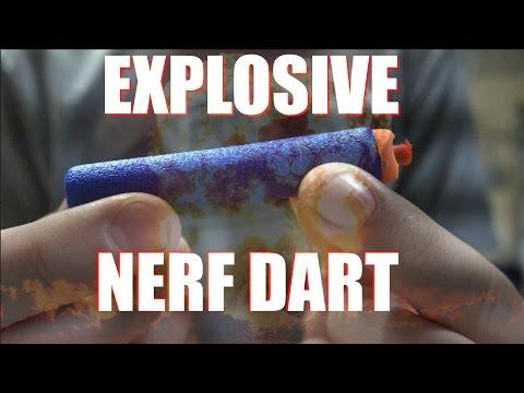 EXPLOSIVE NERF DARTS!!!