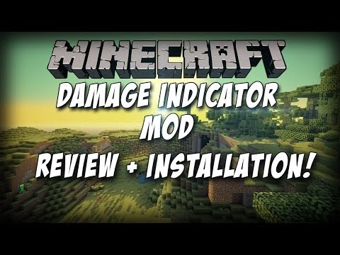 Minecraft 1.8 Damage Indicator Mod - Review + How To Install!