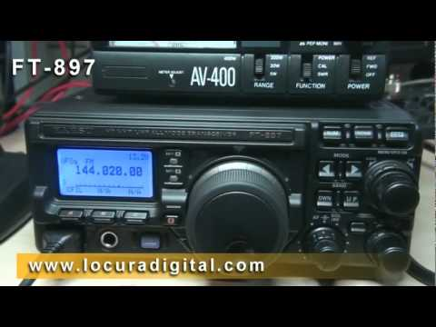 YAESU FT 897D !! COMO MEDIR LA ESTACIONARIAS SWR !!