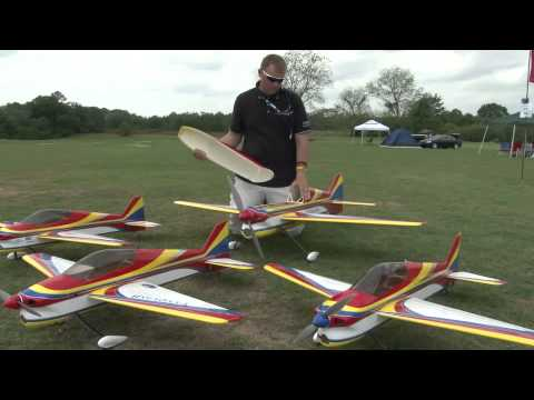 Extreme Flight 2m Vanquish F3A production preview at SEFF