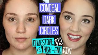 Howto Conceal Dark Circles - Drugstore & High-End Products Compared