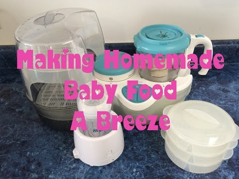 Making Homemade Baby Food, Oyster Baby Nutrition Center Review and Guide