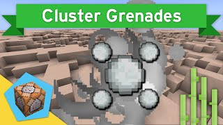 CLUSTER GRENADES in Vanilla Minecraft 1.10+ | Cluster Grenades Command Block Creation