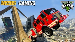 4 MEGA RAMPS - Maze Bank Ramps Mod - GTA 5 Gameplay Video