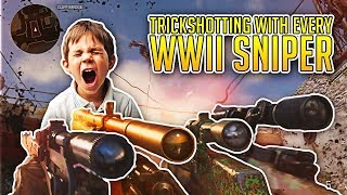 Hitting Trickshots With Every WWII Sniper! (5 TRICKSHOTS)