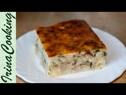 ЗАЛИВНОЙ ПИРОГ на кефире с курицей   Simple Meat Pie Recipe