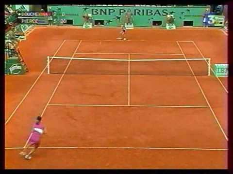 Mary Pierce great points from 2005 French Open Video