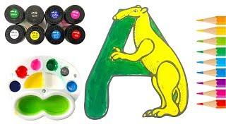 Bé Tô Màu Nước Chữ Cái ABC | Học Màu Sắc Cùng Búp Bê Chibi |Trẻ Thơ TV| Painting Colors For Kids #1
