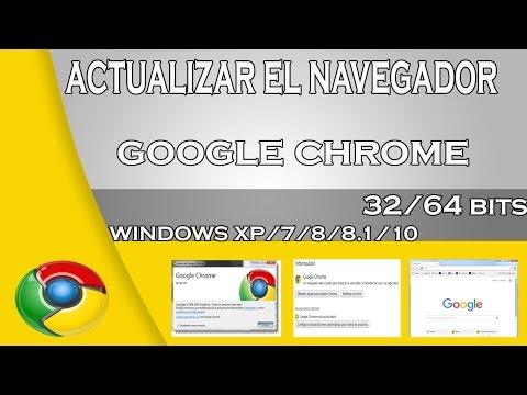 Actualizar el navegador google chrome  a la ultima version sin reinstalar