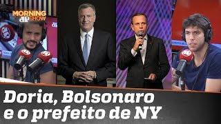 Doria critica prefeito de NY. Caio e Fefito divergem