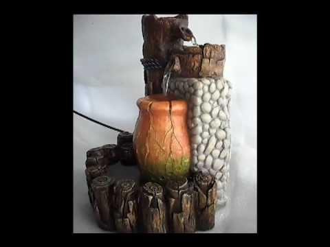 Fuente de agua circulante relajante decorativa youtube for Fuentes en pared