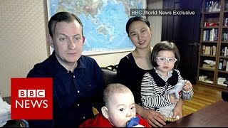 Prof Robert Kelly is back with his wife & children