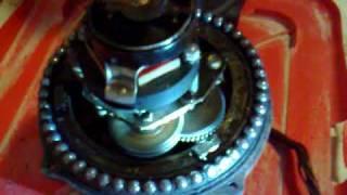 rotor de antena HAM-IV desmontado y en marcha