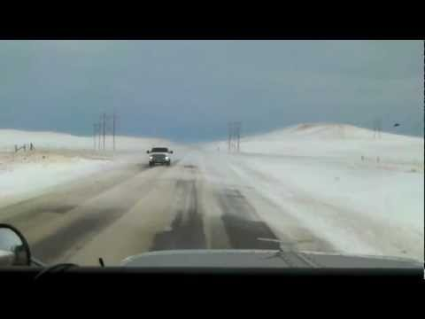 Driving my truck in snowy winter weather in Canada and USA