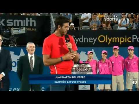 Del Potro - Tomic || Sydney 2014 [Ceremonia de premiación]