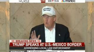 Donald Trump Praises the Border Patrol: Says they are Not being Allowed to do their Job