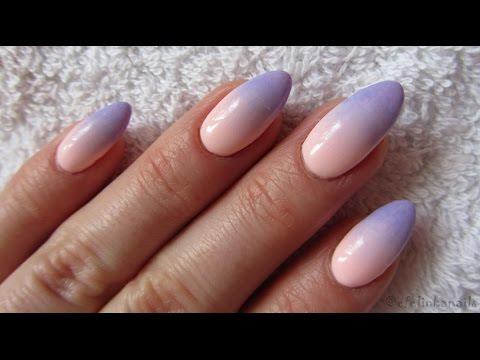 Pink And Blue Pastel Ombre - NeoNail - Jak Zrobić Poziome Ombre Gąbeczką Na Hybrydach