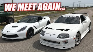 Can My 841hp C7 BEAT a 1000hp Supra!? BALD EAGLES vs. PANDAS!