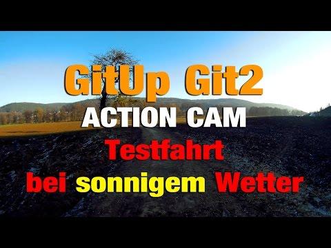 Gitup Git2 Action Cam Testfahrt bei sonnigem Wetter 1080p 60fps