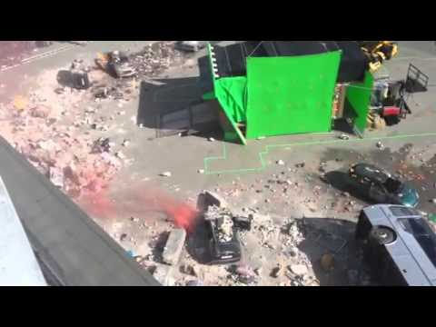 The Avengers 2 - Shooting in Aosta - The bus scene (From Captain Pat)
