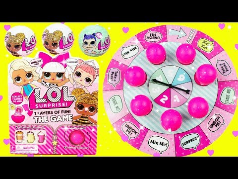 Download Lagu LOL SURPRISE GAME LOL Glitter Series Fun Board Game With Queen Bee, Diva, Luxe, Coconut QT MP3 Free
