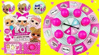 LOL SURPRISE GAME LOL Glitter Series Fun Board Game With Queen Bee, Diva, Luxe, Coconut QT
