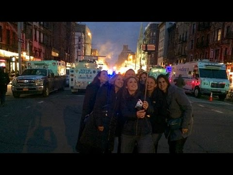 Smiling Group Of Women Take Selfie At Deadly NYC Explosion