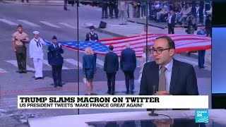 """Trump slams Macron on Twitter: """"the end of the bromance""""?"""