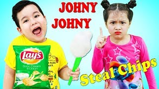 Baby Kids Eating for Chips IRL Learn colors with Funny Nursery Rhymes Song