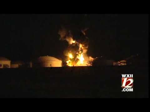 Raw Video: Massive Tank Farm Fire After Lightning Strike