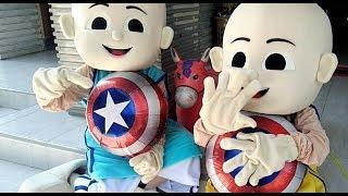 BALONKU ADA 5 Versi YA HABIBAL QOLBI - Upin amp Ipin Bermain Balon  Karakter Captain Amerika