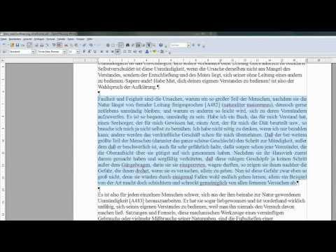 15 einen Absatz im Blocksatz incl. Silbentrennung formatieren - OpenOffice / LibreOffice Writer
