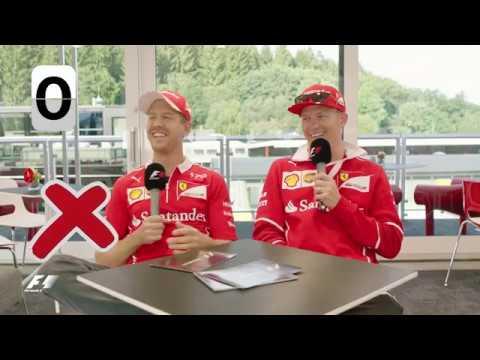 Ferrari's Sebastian Vettel and Kimi Raikkonen | F1 Grill the Grid 2017