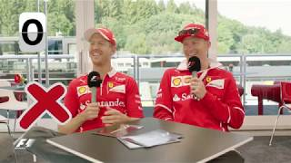Ferrari's Sebastian Vettel and Kimi Raikkonen | F1 Grill the Grid