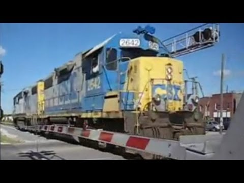 CSX Geeps *RS5T* at Washington St (Smyrna, TN)