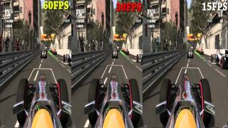 Frame rate comparison in games (60,30,15 fps)