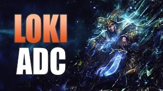 SMITE: Loki ADC Gameplay | Attack Speed Loki Build!