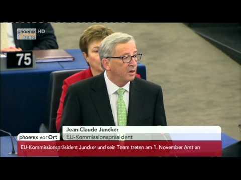 EU-Kommission: Rede von Jean-Claude Juncker im EU-Parlament am 22.10.2014