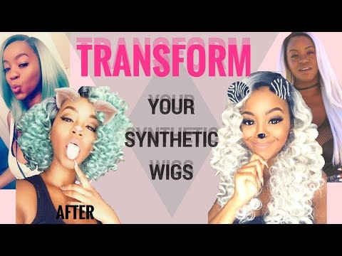Bring Those Old Synthetic Wigs Back to Life   Tutorial + Styling    Chelcie J