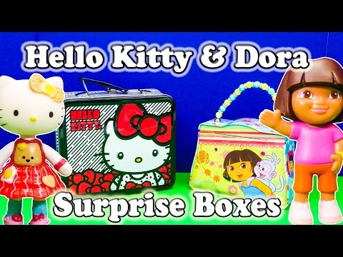 Dora The Explorer & Hello Kitty Surprise Boxes A Nickelodeon Surprise Egg Video video