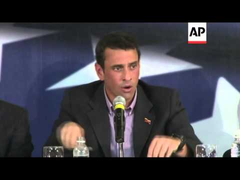 Maduro holds rally, Capriles gives briefing ahead of presidential election