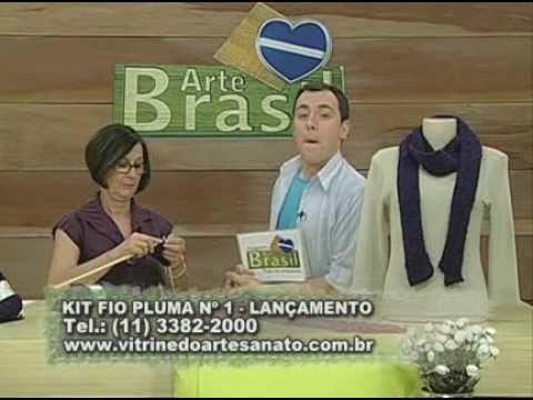 ARTE BRASIL -- CLAUDIA MARIA -- CACHECOL DIAGONAL EM TRICÔ (17/09/2010 - Parte 1 de 2)
