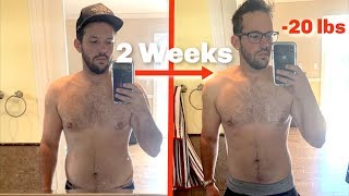 MY TWO WEEK BODY TRANSFORMATION!! (Lost 20 Pounds)